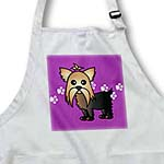 click on Cute Yorkshire Terrier  Yorkie Purple with Paw Prints to enlarge!