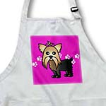 click on Cute Yorkshire Terrier  Yorkie Pink with Paw Prints to enlarge!
