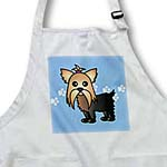 click on Cute Yorkshire Terrier  Yorkie Blue with Paw Prints to enlarge!