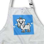 click on Cute White Maltese Blue with Paw Prints to enlarge!
