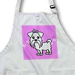 click on Cute White Maltese Purple with Paw Prints to enlarge!