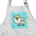 click on Cute Cream Pomeranian Blue with Paw Prints to enlarge!