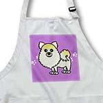 click on Cute Cream Pomeranian Purple with Paw Prints to enlarge!