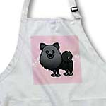 click on Cute Black Pomeranian Pink with Paw Prints to enlarge!