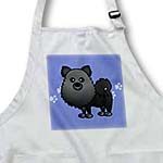 click on Cute Black Pomeranian Blue with Paw Prints to enlarge!