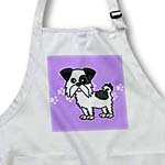 click on Cute Black and White Shih Tzu Blue with Paw Prints to enlarge!