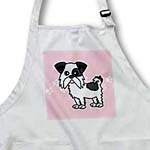 click on Cute Black and White Shih Tzu Pink with Paw Prints to enlarge!