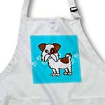 click on Cute Brown and White Shih Tzu Blue with Paw Prints to enlarge!