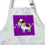 click on Cute Brown and White Shih Tzu Purple with Paw Prints to enlarge!