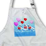 click on Baby harp seals, hearts, Valentine, I love you, aquatic animals, sea life to enlarge!