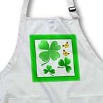 click on A pretty shamrock clover design with little golden butterflies to enlarge!