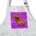 click on Cute Brussels Griffon Purple Pawprint Background to enlarge!