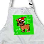 click on Cute Brussels Griffon Green with Santa Hat to enlarge!