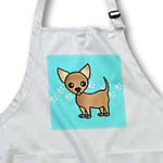 click on Cute Tan Chihuahua Blue Pawprint Background to enlarge!