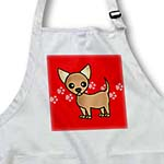 click on Cute Tan Chihuahua Red Pawprint Background to enlarge!
