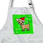 click on Cute Chihuahua Green with Santa Hat to enlarge!