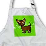 click on Cute Chihuahua Chocolate Tan Green Pawprint Background to enlarge!