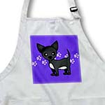 click on Cute Black Chihuahua Blue Pawprint Background to enlarge!