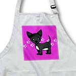 click on Cute Black Chihuahua Pink Pawprint Background to enlarge!