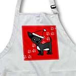 click on Cute Black Chihuahua Red with Santa Hat to enlarge!