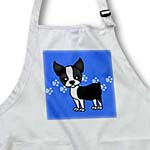 click on Cute Boston Terrier Blue Pawprint Background to enlarge!