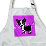 click on Cute Boston Terrier Purple Pawprint Background to enlarge!