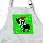 click on Cute Boston Terrier Green with Santa Hat to enlarge!