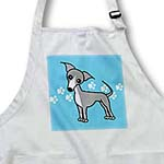 click on Cute Italian Greyhound Grey Blue Pawprint Background to enlarge!
