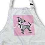 click on Cute Italian Greyhound Grey Pink Pawprint Background to enlarge!