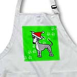 click on Cute Grey Italian Greyhound Green with Santa Hat to enlarge!