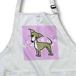 click on Cute Italian Greyhound Fawn Tan Purple Pawprint Background to enlarge!