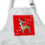 click on Cute Fawn Tan Italian Greyhound Green with Santa Hat to enlarge!
