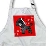 click on Cute Black Poodle Red Paw Background with Santa Hat to enlarge!