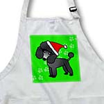 click on Cute Black Poodle Green Paw Background with Santa Hat to enlarge!