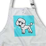 click on Cute White Poodle Blue Paw Print Background to enlarge!