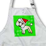 click on Cute Apricot Poodle Green Paw Background with Santa Hat to enlarge!