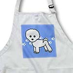 click on Cute Bichon Frise Blue Paw Print Background to enlarge!