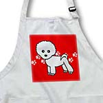 click on Cute Bichon Frise Red Paw Print Background to enlarge!