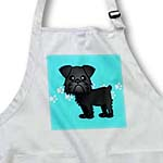 click on Cute Black Brussels Griffon Blue Pawprint Background to enlarge!