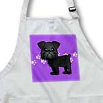 click on Cute Black Brussels Griffon Purple Pawprint Background to enlarge!
