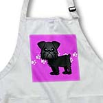 click on Cute Black Brussels Griffon Pink Pawprint Background to enlarge!