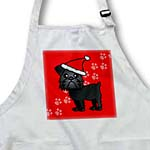 click on Cute Black Brussels Griffon Red with Santa Hat to enlarge!