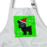 click on Cute Black Brussels Griffon Green with Santa Hat to enlarge!