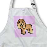 click on Cute Tan Cocker Spaniel Pink with Pawprints to enlarge!