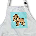 click on Cute Tan Cocker Spaniel Blue with Pawprints to enlarge!