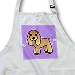 click on Cute Tan Cocker Spaniel Purple with Pawprints to enlarge!