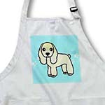 click on Cute Buff Cocker Spaniel Blue with Pawprints to enlarge!