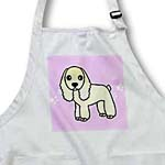 click on Cute Buff Cocker Spaniel Pink with Pawprints to enlarge!