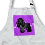 click on Cute Black Cocker Spaniel Purple with Pawprints to enlarge!
