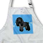 click on Cute Black Cocker Spaniel Blue with Pawprints to enlarge!